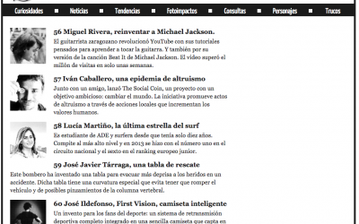 """Miguel Rivera included as one of the 101 more innovative people of Spain in 2015 by """"QUO"""" Magazine"""