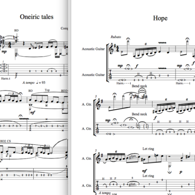 varias partituras