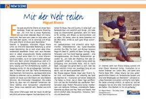 Miguel Rivera en la revista Alemana AKUSTIK GITARRE